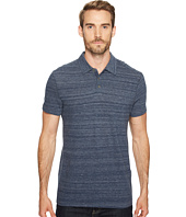 John Varvatos Star U.S.A. - Short Sleeve Polo w/ Vertical Pickstitch Detail K3105T2B