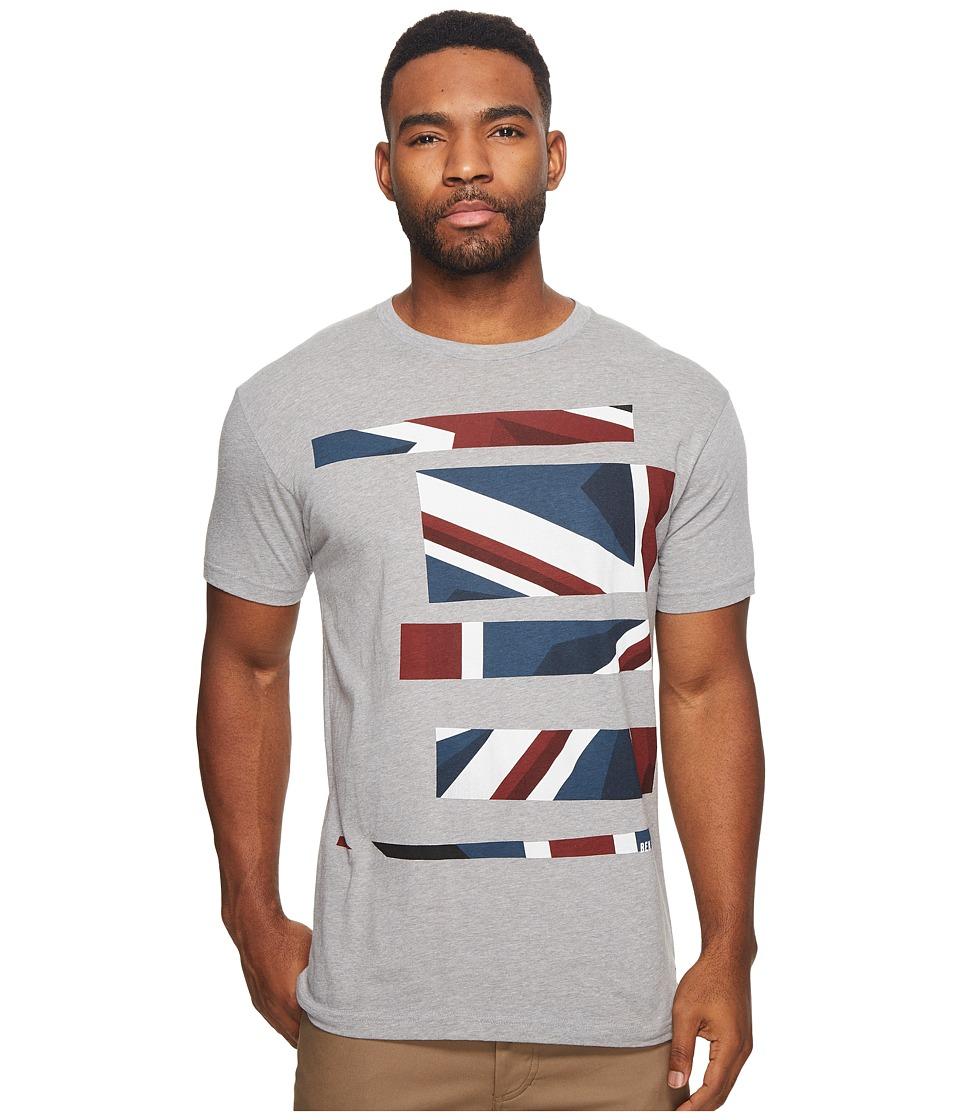 Ben Sherman Union Jack Stripe Print Tee (Silver Grey) Men