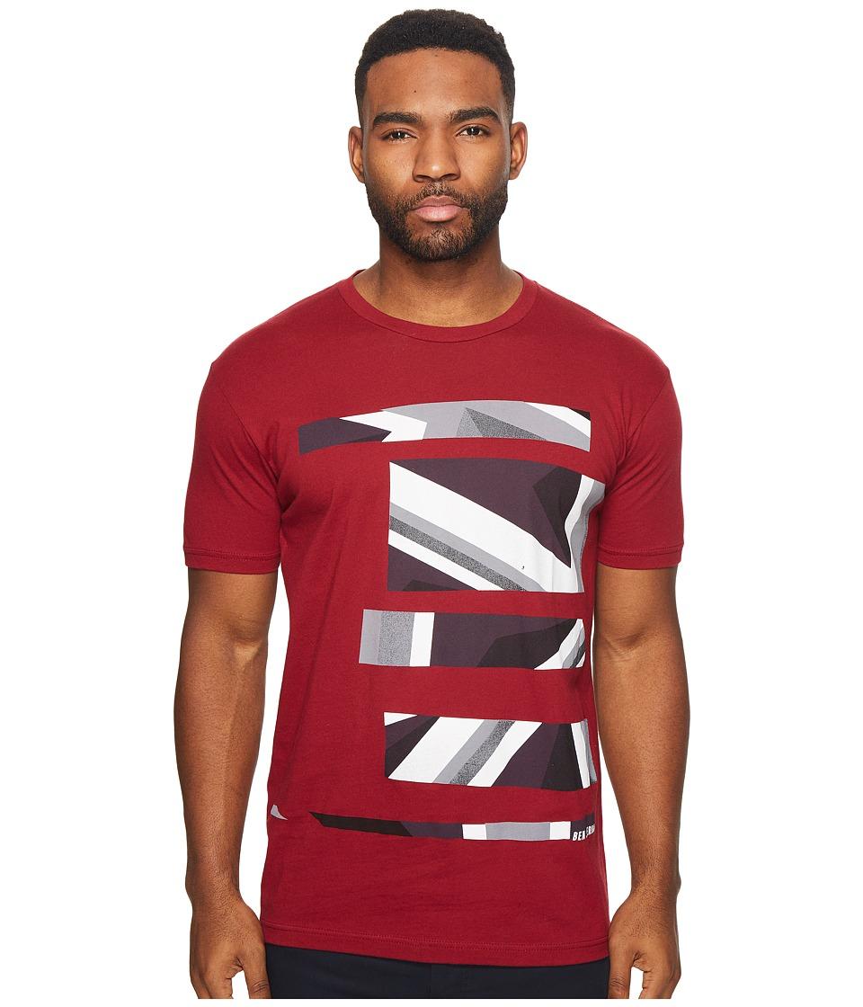 Ben Sherman Union Jack Stripe Print Tee (Scooter) Men