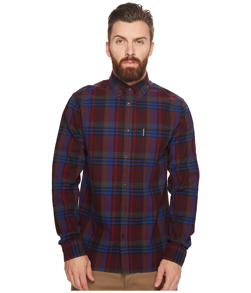 Ben Sherman - Long Sleeve Brushed Crepe Check Shirt
