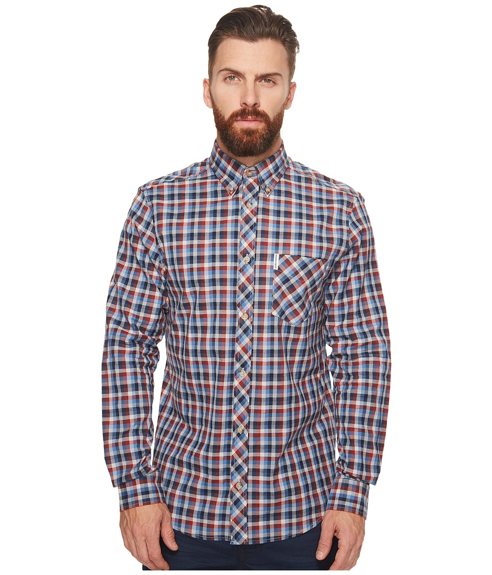 Ben Sherman - Long Sleeve Multicolored Gingham Shirt