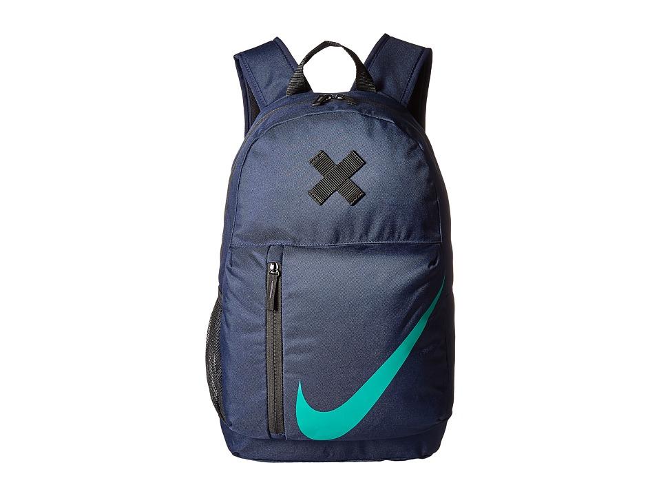 Nike Elemental Backpack (Little Kids/Big Kids) (Obsidian/Black/Neptune Green) Backpack Bags
