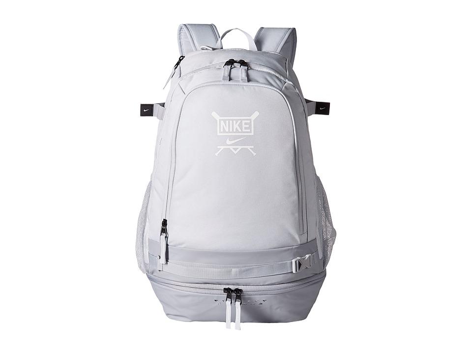 Nike - Vapor Select Baseball Backpack (Pure Platinum/Wolf Grey/White) Backpack Bags