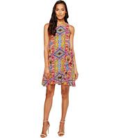 Taylor - Floral Print Crepe Trapeze Dress