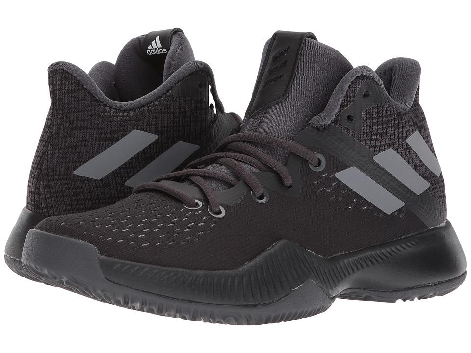 adidas Kids Bounce BB J Basketball (Big Kid) (Black/Grey) Boys Shoes
