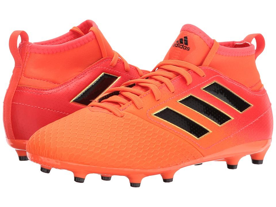 adidas Kids Ace 17.3 FG J Soccer (Little Kid/Big Kid) (Orange/Black/Red) Kids Shoes