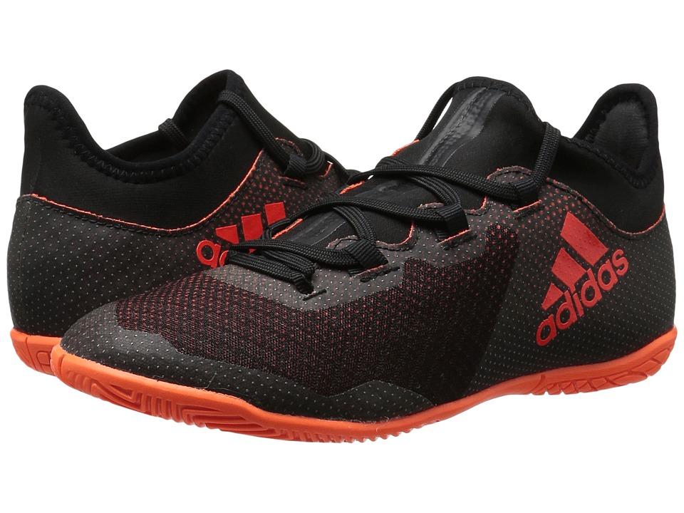 adidas Kids X Tango 17.3 IN J Soccer (Little Kid/Big Kid) (Black/Red/Orange) Kids Shoes