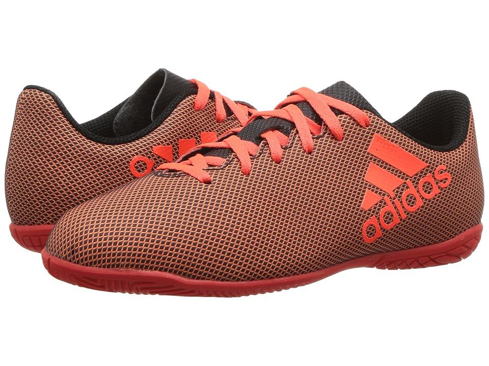 adidas Kids X 17.4 IN J Soccer (Little Kid/Big Kid) (Black/Red/Orange) Kids Shoes