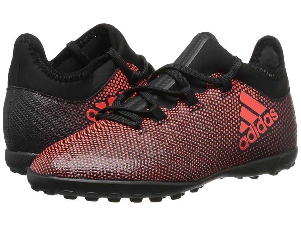 adidas Kids X Tango 17.3 TF J (Little Kid/Big Kid) (Black/Red/Orange) Kids Shoes
