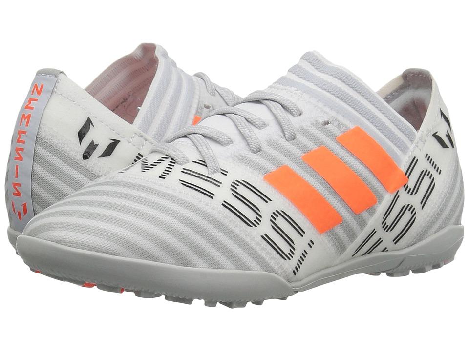 adidas Kids Nemeziz Messi Tango 17.3 TF J Soccer (Little Kid/Big Kid) (White/Orange/Black) Kids Shoes