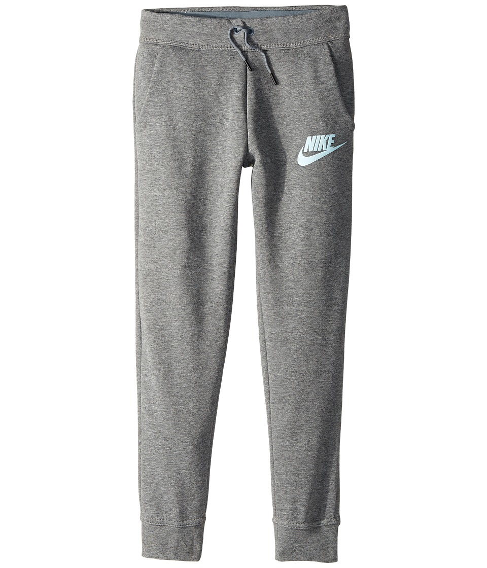 Nike Kids - Sportswear Modern Pant (Little Kid/Big Kid) (Carbon Heather/Cool Grey/Glacier Blue) Girl's Casual Pants