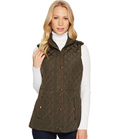 LAUREN Ralph Lauren - Faux Leather Trim Military Vest