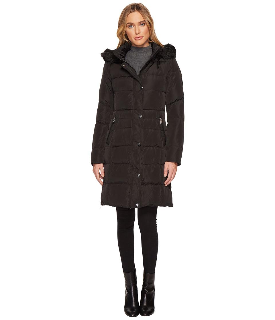 LAUREN Ralph Lauren - 3/4 Heavy Down w/ Waist Detail (Black) Womens Coat