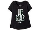 Nike Kids Sportswear Life Goals Scoop Tee (Little Kids/Big Kids)