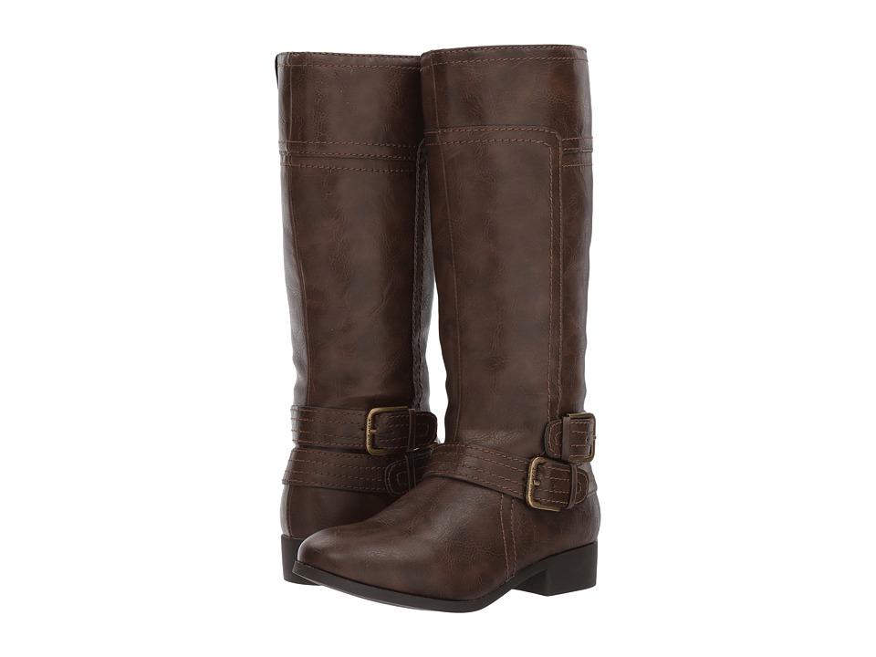 Nine West Kids Sassy Tran 2 (Little Kid/Big Kid) (Dark Brown Smooth) Girl's Shoes