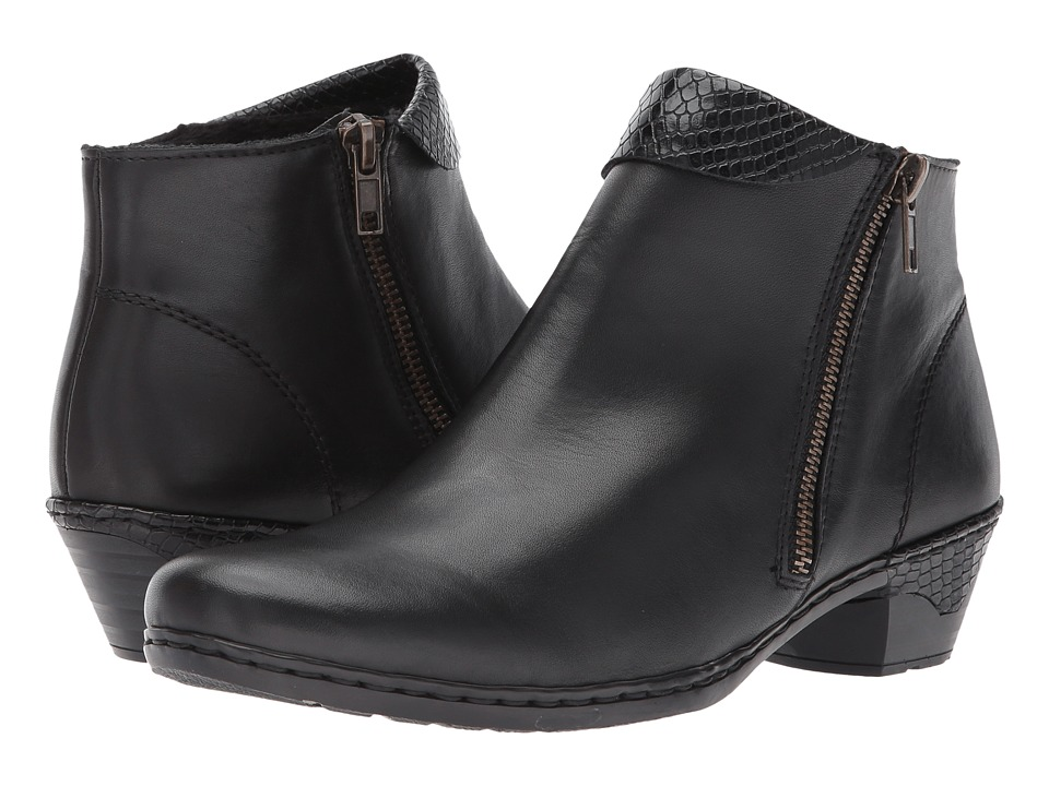 Rieker 76961 (Black/Black) Women