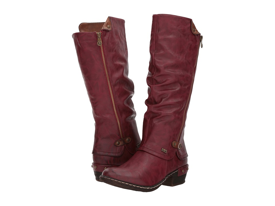 Rieker - 93655 (Vino/Kastanie) Womens Dress Boots