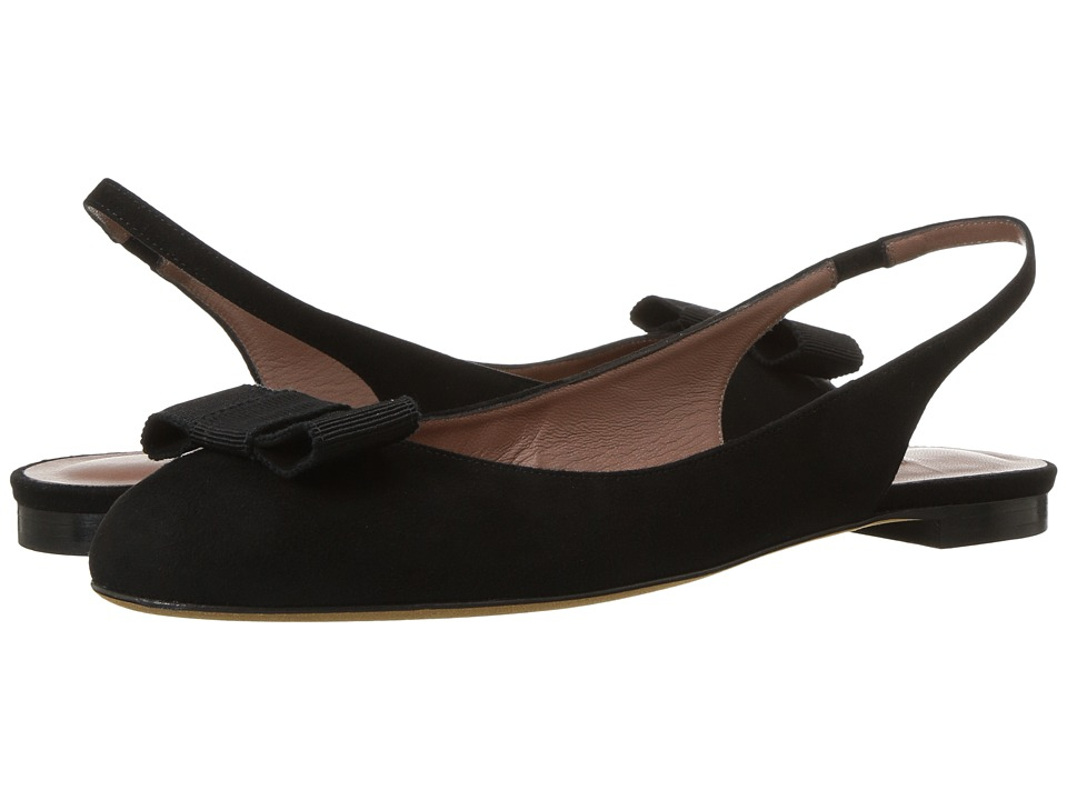 Tabitha Simmons - Ingrid (Black Kid Suede/Black Grosgrain) Womens Shoes