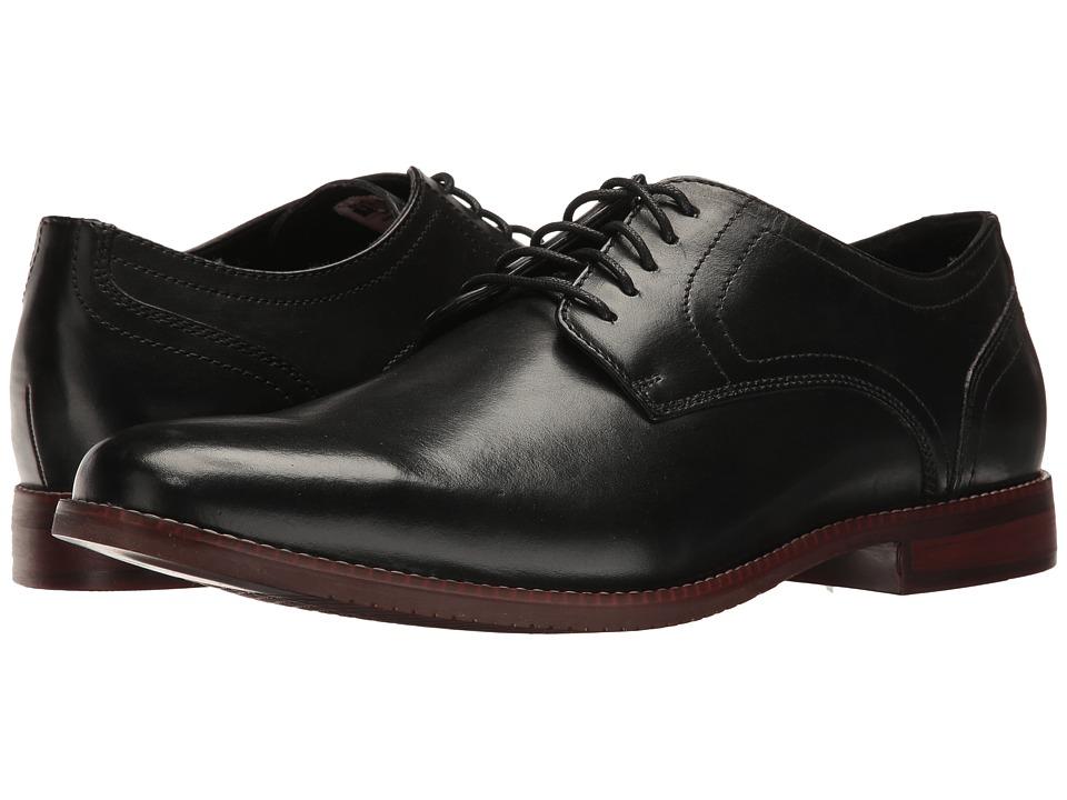 Rockport Style Purpose Plaintoe (Black Leather) Men's Lac...