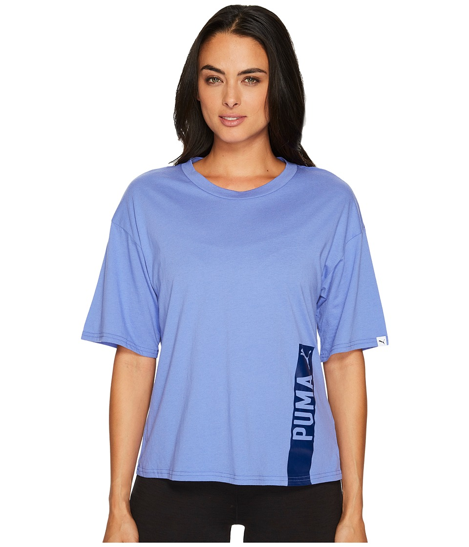PUMA Fusion Trend Tee (Baja Blue) Women