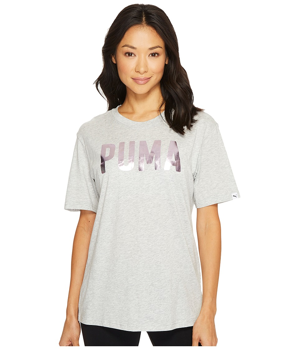 PUMA Fusion BF Tee (Light Grey Heather Foil) Women