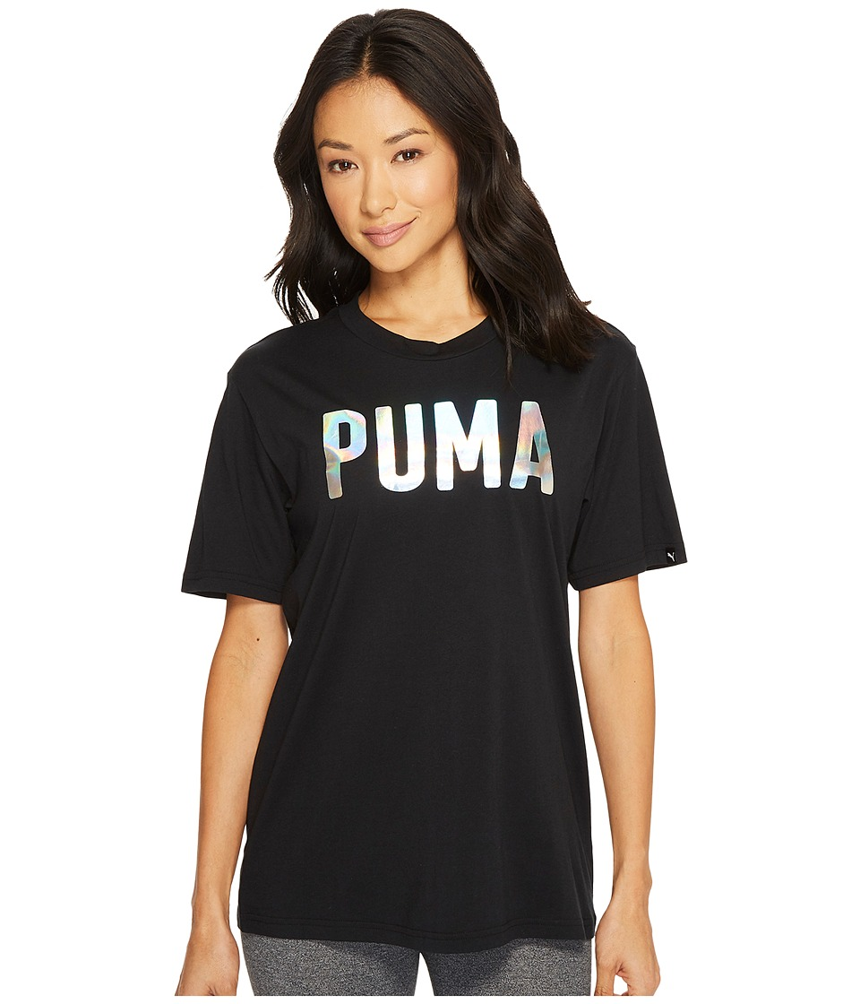 PUMA Fusion BF Tee (Cotton Black Foil) Women