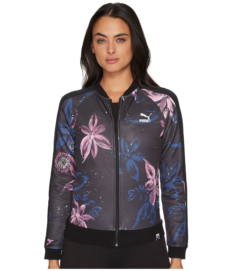 Puma AOP Archive T7 Track Jacket (PUMA Black 2) Women's Coat