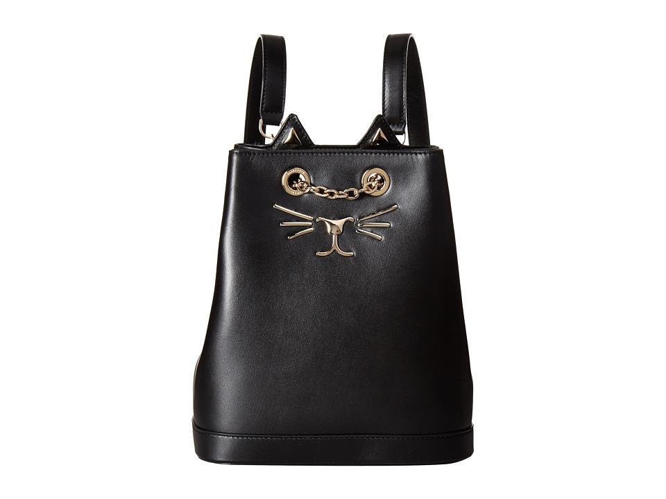 Charlotte Olympia Petit Feline Backpack (Black) Backpack ...