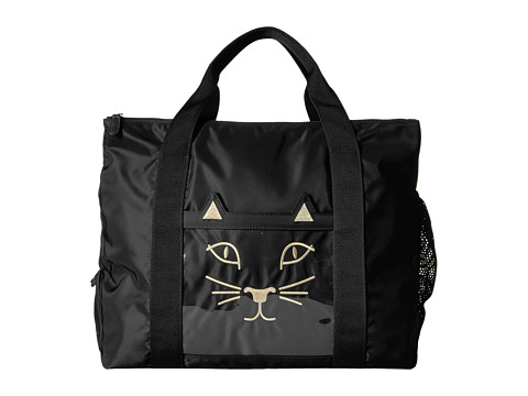 Charlotte Olympia Purrrfect Gym Bag - Black