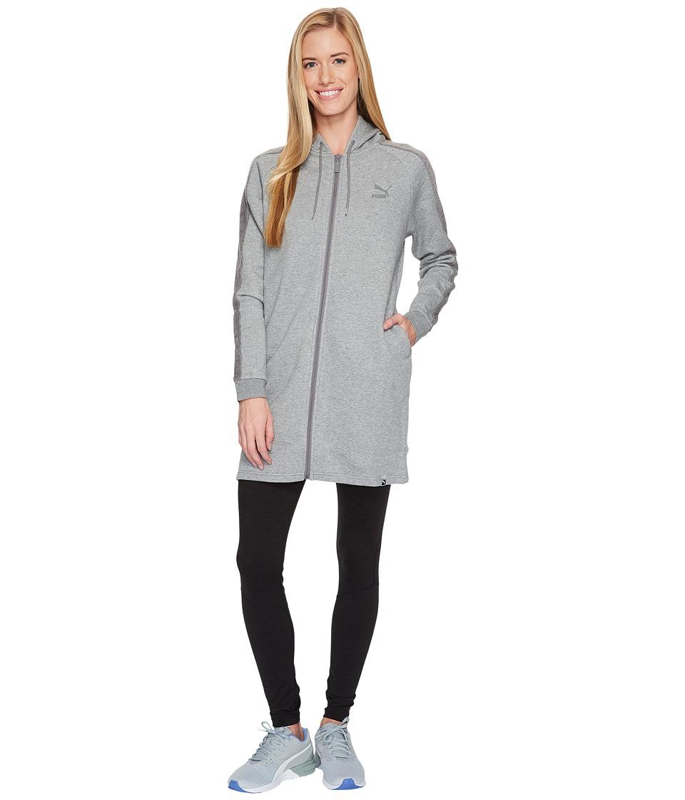 PUMA Winterized Archive Logo T7 Full Zip Hoodie (Medium Grey Heather) Women