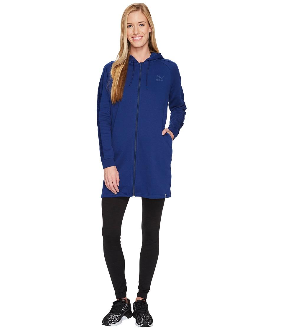 PUMA Winterized Archive Logo T7 Full Zip Hoodie (Blue Depths) Women