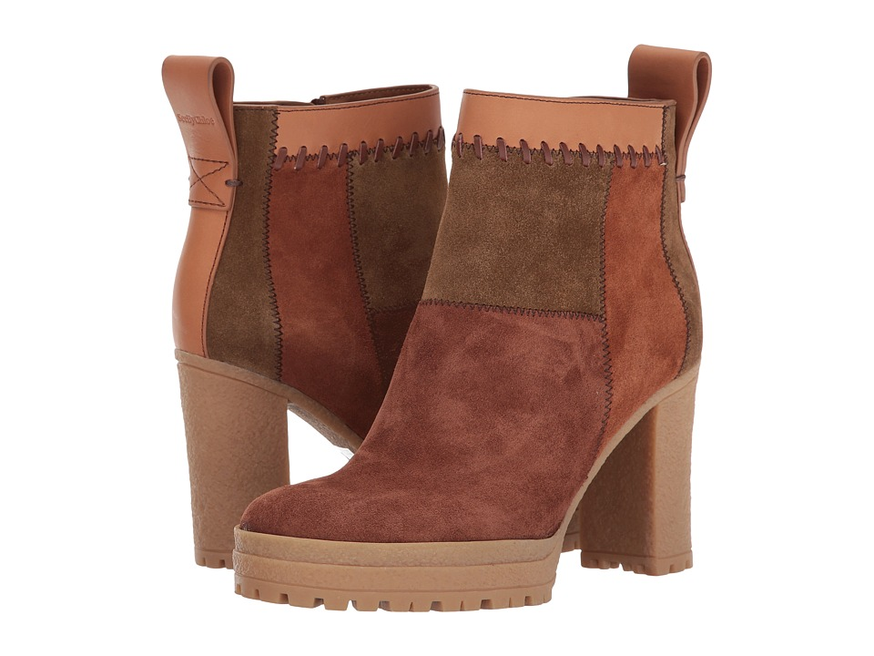 See by Chloe SB29091 (Medium Brown) High Heels
