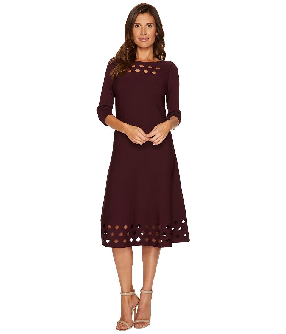 NIC+ZOE Time Out Twirl Dress (Wine) Women