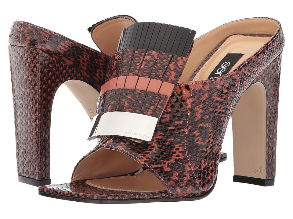 Sergio Rossi SR1 (Tea Rose Elaphe Lux/Smart/Sioux) High Heels
