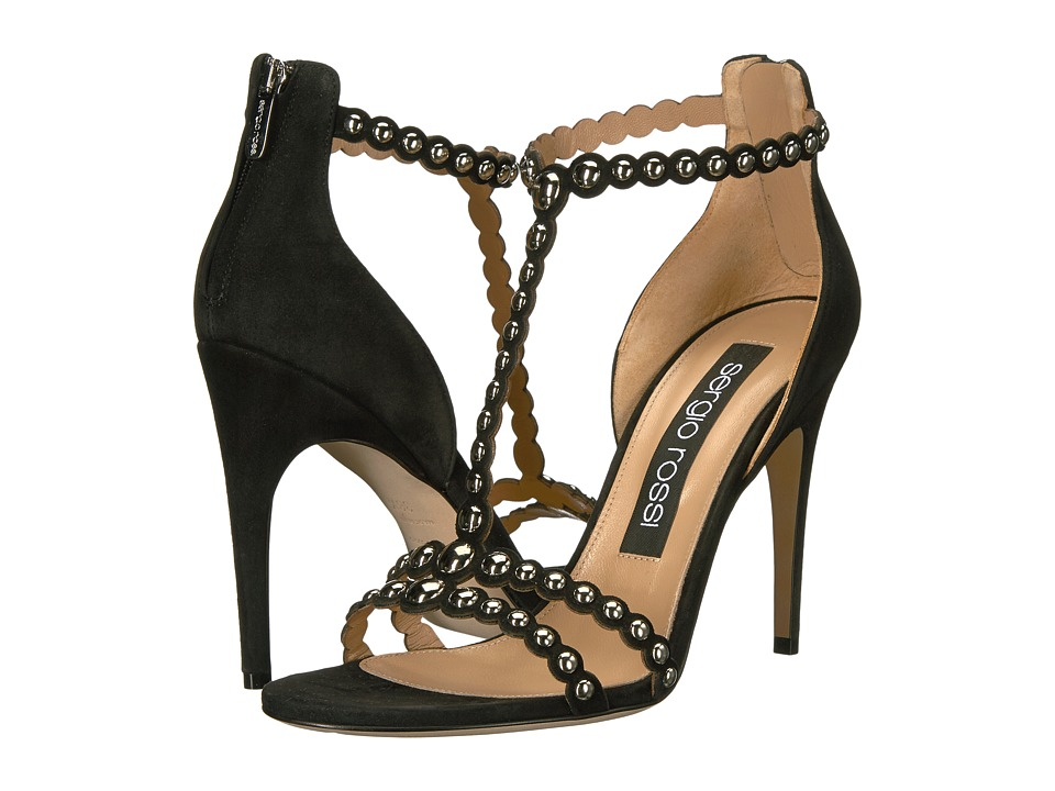 Sergio Rossi Dafne (Nero Royal/Borchie) High Heels
