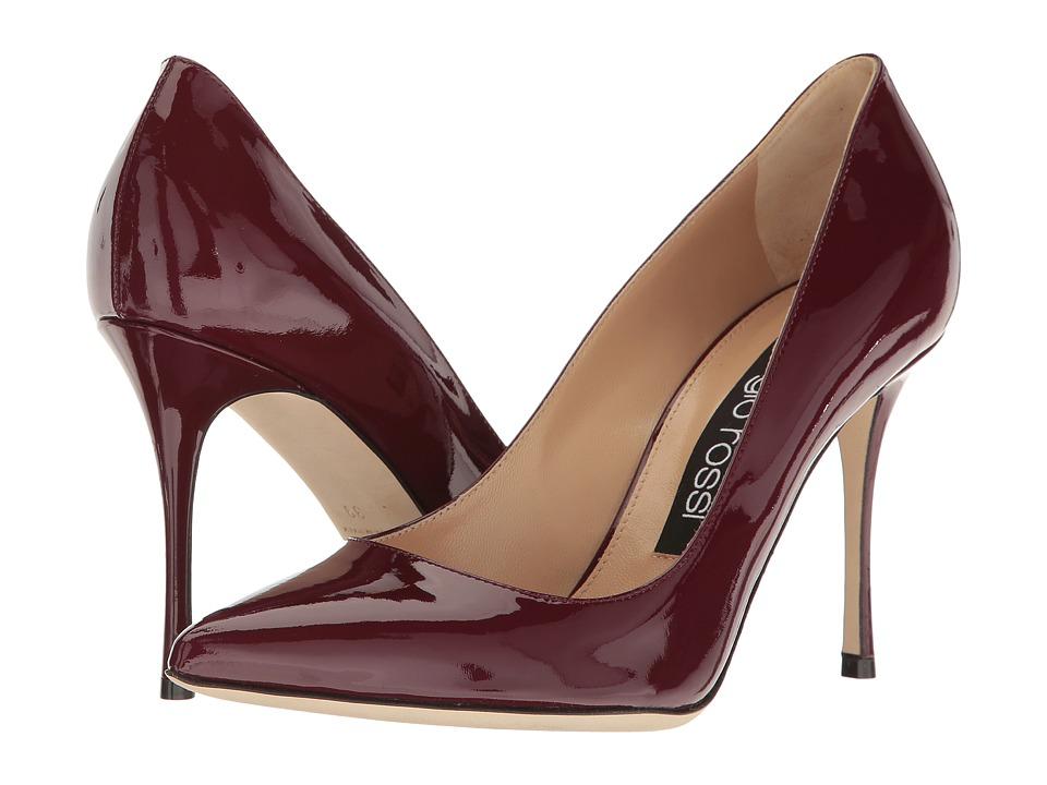 Sergio Rossi Godiva (Dark Cherry Patent) High Heels