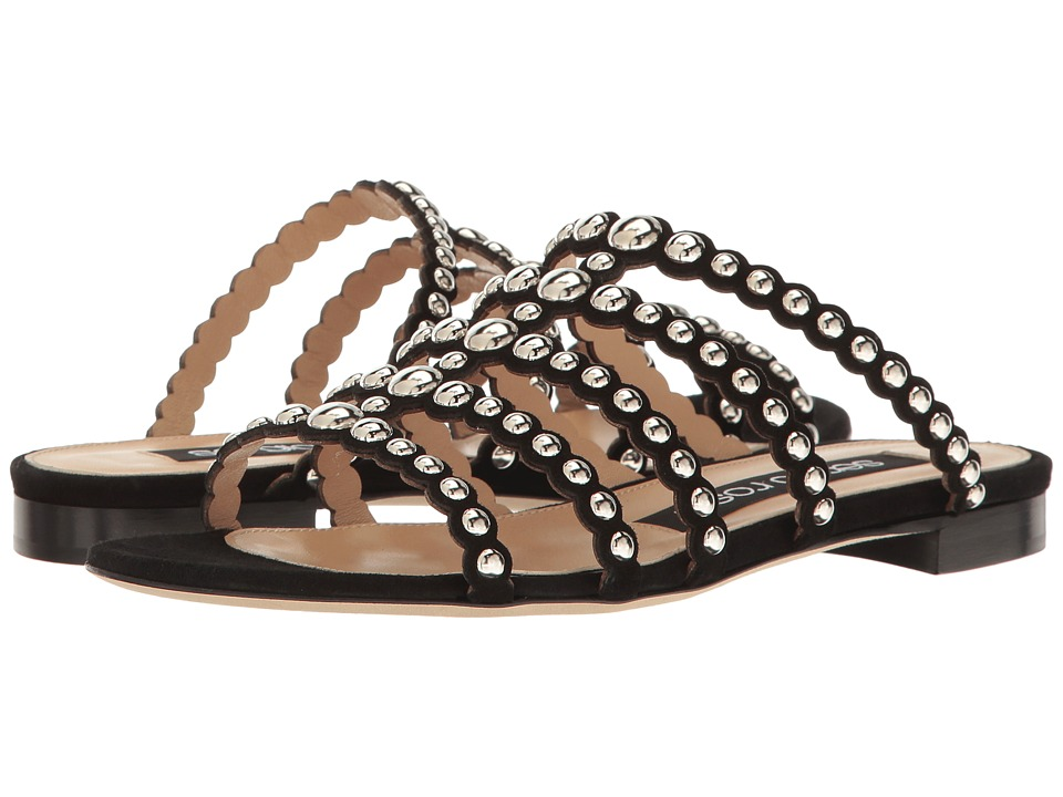 Sergio Rossi Dafne (Nero Royal/Borchie) Women's Sandals