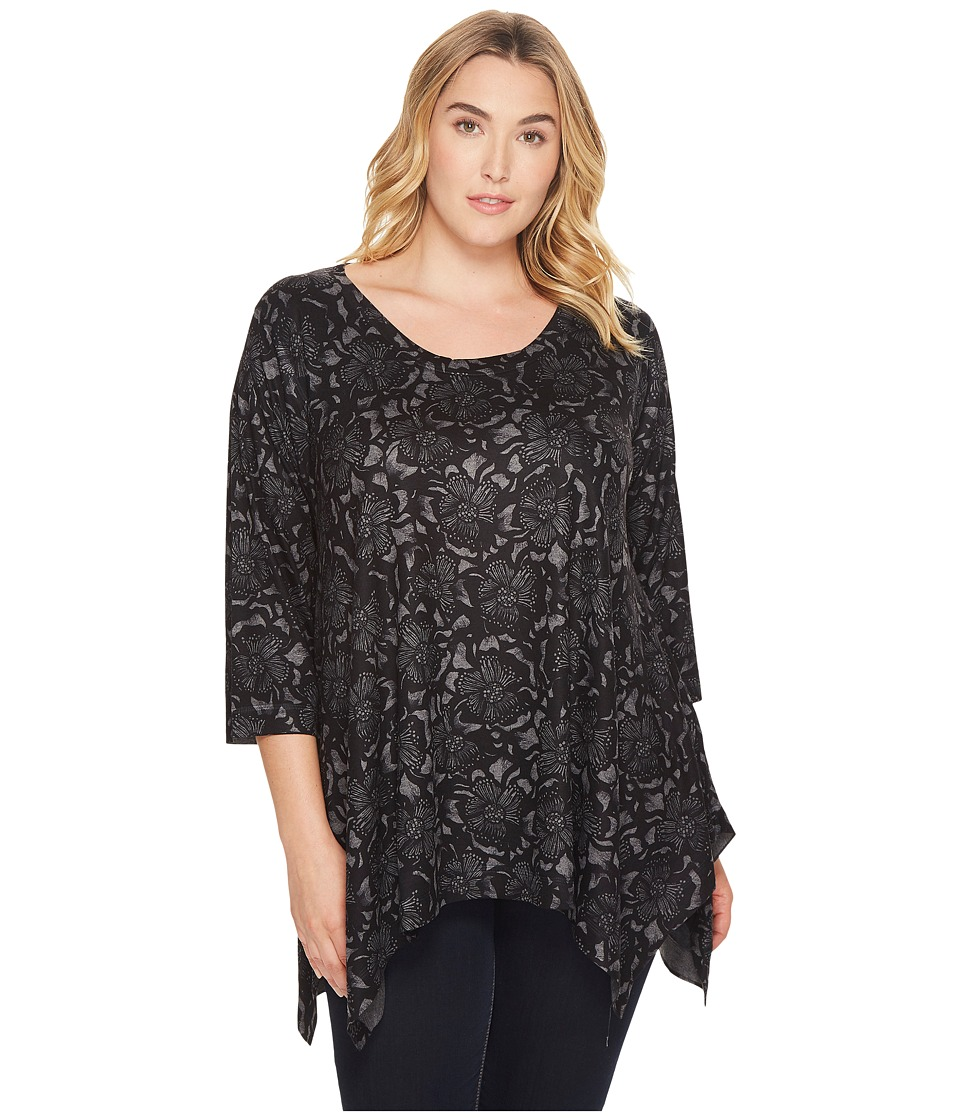 Nally & Millie Nally & Millie - Plus Size Printed Floral Sweater Tunic