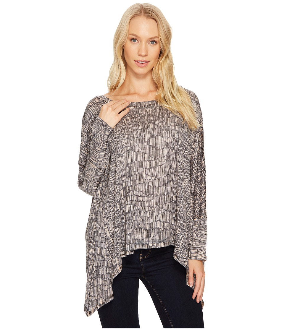Nally & Millie Nally & Millie - Almond Print Slouch Top