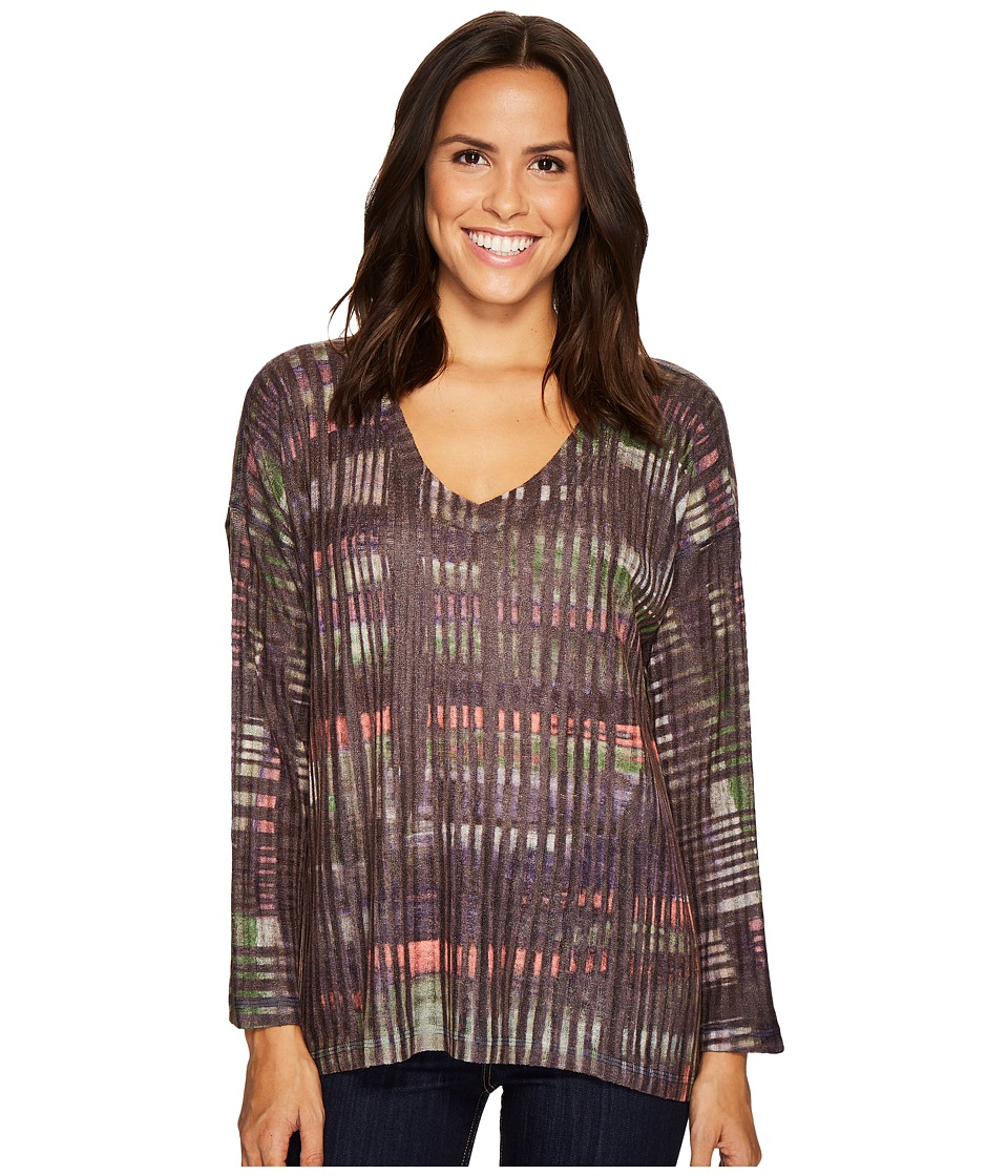 Nally & Millie - Purple Border Print Top