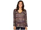 Nally & Millie Purple Border Print Top