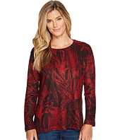 Nally & Millie - Crimson Print Long Sleeve Top