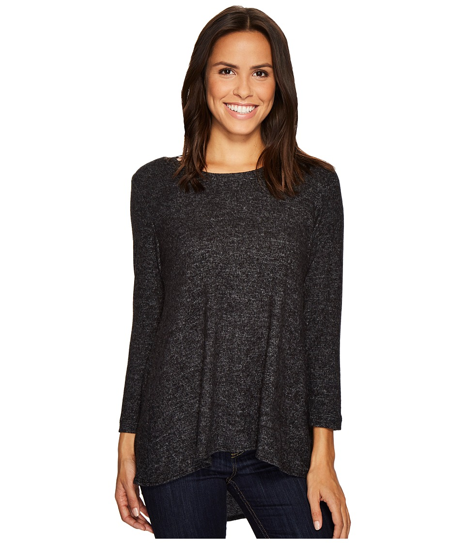 Nally & Millie - Brushed High-Low Tunic with Back Pleat