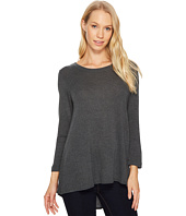Nally & Millie - Pleated Back French Terry 3/4 Sleeve Tunic