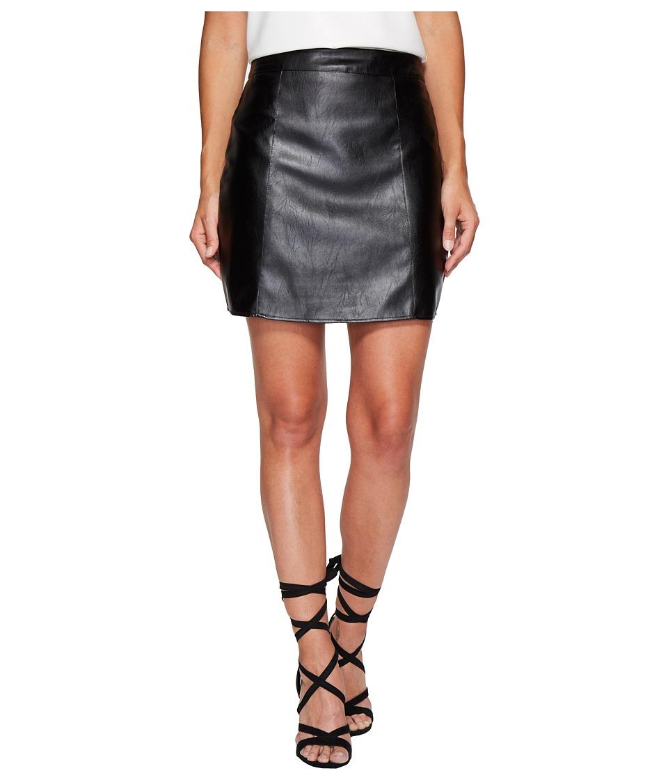 Bishop + Young Vegan Leather Skirt (Black) Women