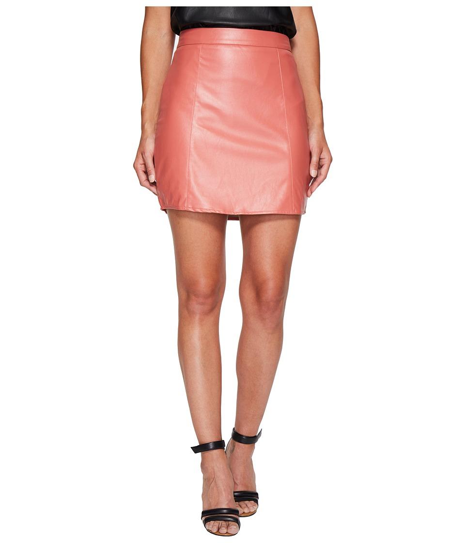 Bishop + Young Vegan Leather Skirt (Rose) Women