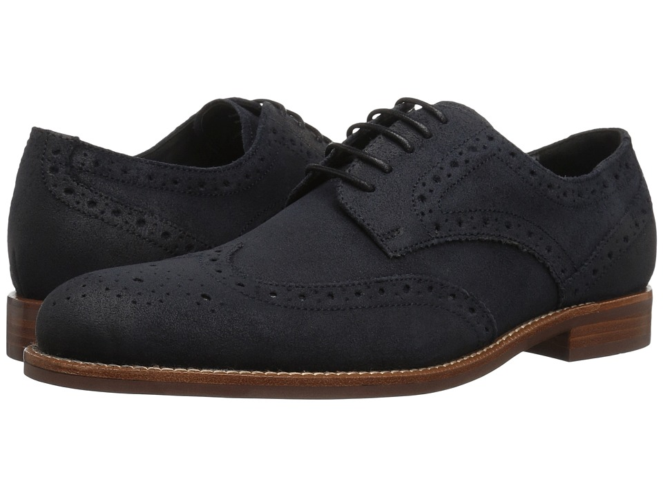 Gordon Rush Kinsley (Navy Waxed Suede) Men