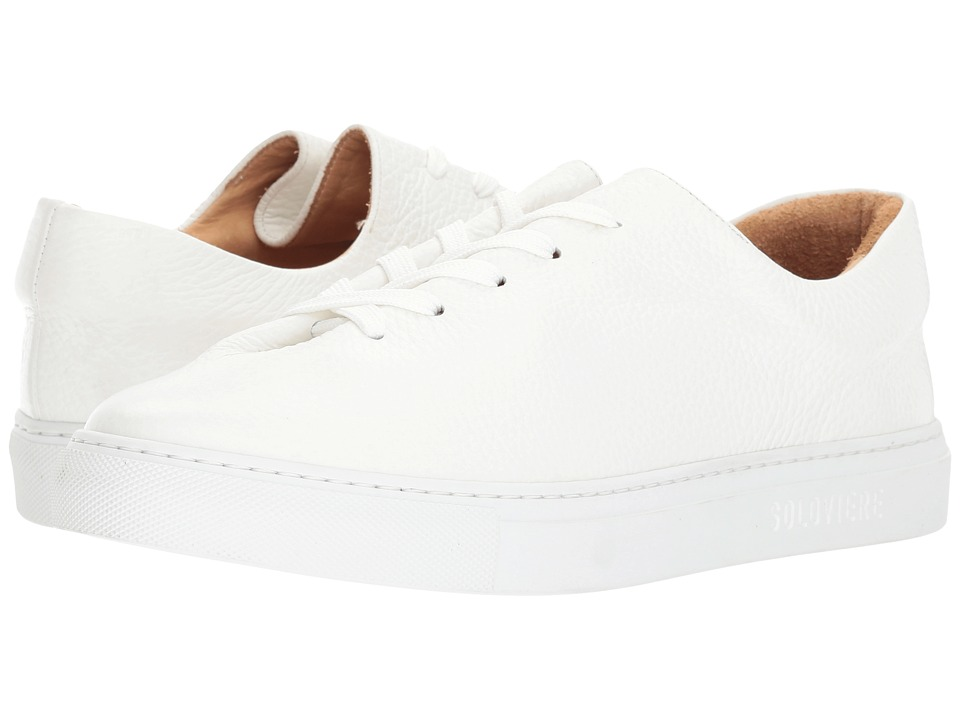 SOLOVIERE - Grained Leather Sneaker
