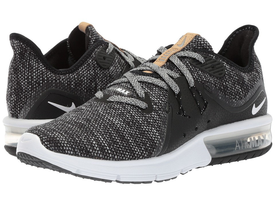 Nike Air Max Sequent 3 (Black/White/Dark Grey) Women's Shoes