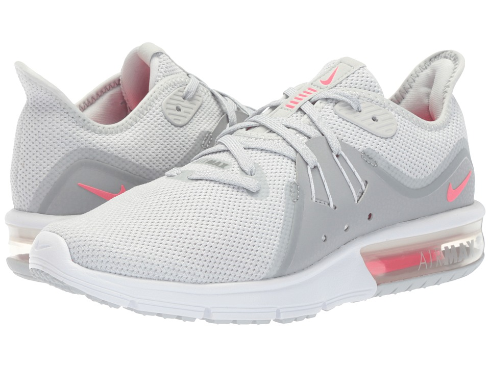 Nike Air Max Sequent 3 (Pure Platinum/Racer Pink/Wolf Grey) Women's Shoes